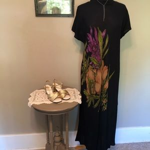 Carole Little Floral Accented Dress